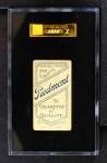 1909 T206  Bill Cranston  Back Thumbnail