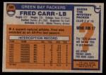 1976 Topps #360  Fred Carr  Back Thumbnail
