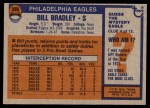 1976 Topps #399  Bill Bradley  Back Thumbnail
