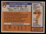 1976 Topps #336  Woody Green   Back Thumbnail