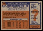 1976 Topps #345  John Brockington  Back Thumbnail