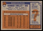 1976 Topps #372  Howard Twilley  Back Thumbnail