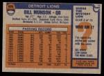 1976 Topps #404  Bill Munson  Back Thumbnail