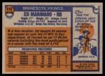 1976 Topps #419  Ed Marinaro  Back Thumbnail