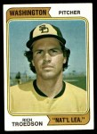 1974 Topps #77 WAS Rich Troedson  Front Thumbnail