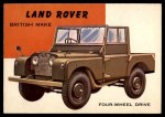 1954 Topps World on Wheels #137   Land Rover Front Thumbnail