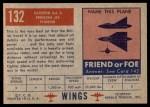 1952 Topps Wings #132   Gloster GA 5 Back Thumbnail