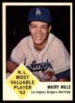 1963 Fleer #43  Maury Wills  Front Thumbnail