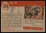1954 Topps World on Wheels #131   M.G. Back Thumbnail
