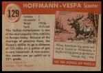 1954 Topps World on Wheels #129   Hoffman-Vespa Scooter Back Thumbnail