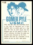 1965 Fleer Gomer Pyle #12   Cain't Remember Back Thumbnail