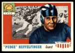 1955 Topps #18  Pudge Heffelfinger  Front Thumbnail