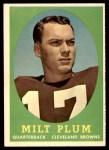 1958 Topps #5  Milt Plum  Front Thumbnail