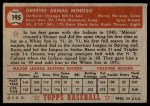 1952 Topps #195  Minnie Minoso  Back Thumbnail
