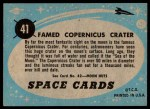 1957 Topps Space Cards #41   Famed Copernicus Crater Back Thumbnail