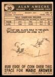 1959 Topps #30  Alan Ameche  Back Thumbnail