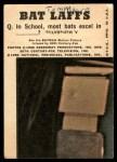 1966 Topps Batman Bat Laffs #43   The Joker Back Thumbnail