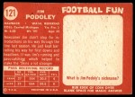 1958 Topps #121  Jim Podoley  Back Thumbnail