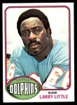1976 Topps #33  Larry Little  Front Thumbnail
