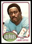 1976 Topps #33  Larry Little  Front Thumbnail