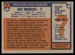 1976 Topps #61  Guy Morriss  Back Thumbnail