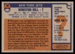 1976 Topps #88  Winston Hill  Back Thumbnail