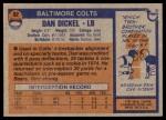 1976 Topps #92  Dan Dickel  Back Thumbnail