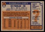 1976 Topps #49  Ed Podolak  Back Thumbnail