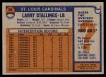 1976 Topps #56  Larry Stallings  Back Thumbnail