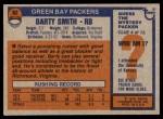 1976 Topps #62  Barty Smith  Back Thumbnail