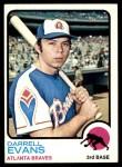 1973 Topps #374  Darrell Evans  Front Thumbnail