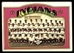 1972 Topps #547   Indians Team Front Thumbnail