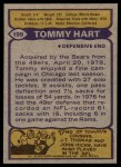 1979 Topps #199  Tommy Hart  Back Thumbnail