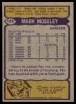 1979 Topps #133  Mark Moseley  Back Thumbnail