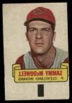 1966 Topps Rub Offs   Sam McDowell   Front Thumbnail