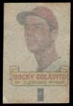1966 Topps Rub Offs   Rocky Colavito   Back Thumbnail