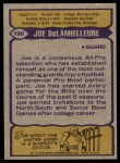 1979 Topps #190   -  Joe DeLamielleure All-Pro Back Thumbnail