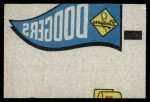1966 Topps Rub Offs    Los Angeles Dodgers Pennant Front Thumbnail