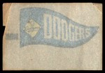 1966 Topps Rub Offs    Los Angeles Dodgers Pennant Back Thumbnail