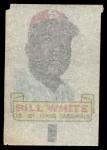1966 Topps Rub Offs   Bill White   Back Thumbnail