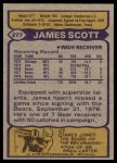 1979 Topps #277  James Scott  Back Thumbnail