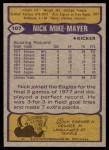 1979 Topps #107  Nick Mike-Mayer  Back Thumbnail
