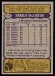1979 Topps #111  Harold McLinton  Back Thumbnail