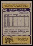 1979 Topps #262  Steve Zabel  Back Thumbnail