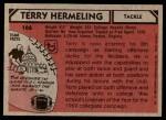 1980 Topps #166  Terry Hermeling  Back Thumbnail
