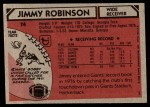1980 Topps #74  Jimmy Robinson  Back Thumbnail
