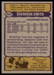 1979 Topps #294  Sherman Smith  Back Thumbnail