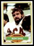 1980 Topps #351  Ron Saul  Front Thumbnail