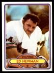1980 Topps #201  Ed Newman  Front Thumbnail