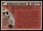 1980 Topps #106  Sherman White  Back Thumbnail
